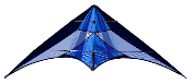 French Kiss Blue Stunt Sport Kite