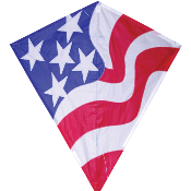"Patriotic American Flag 30"" Diamond"
