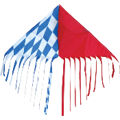 Op-Art Red White Blue Fringe Delta Kite
