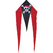 Skull and Crossbones Mini Flo-Tail Delta Kite